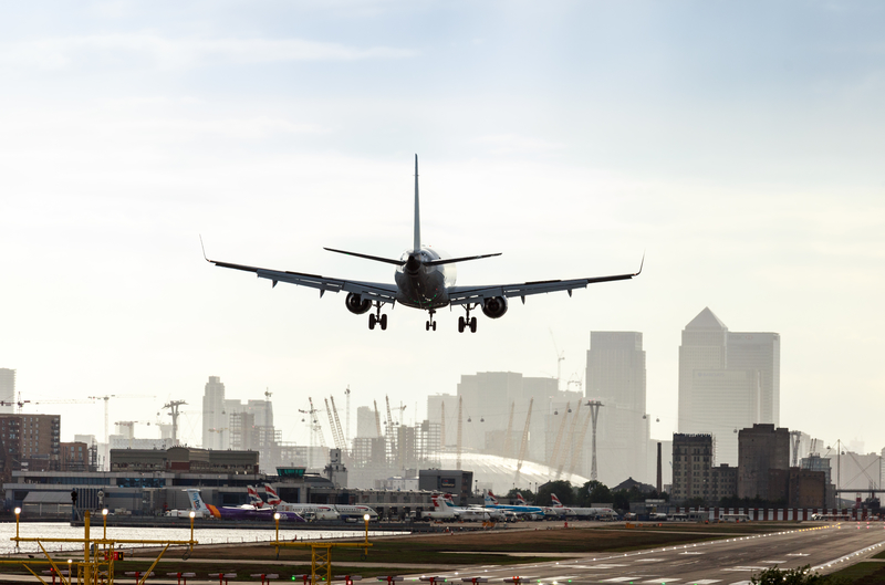 London City Airport is located in Silvertown.